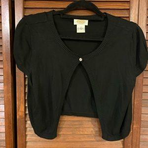 Talbots Black Shrug Sweater